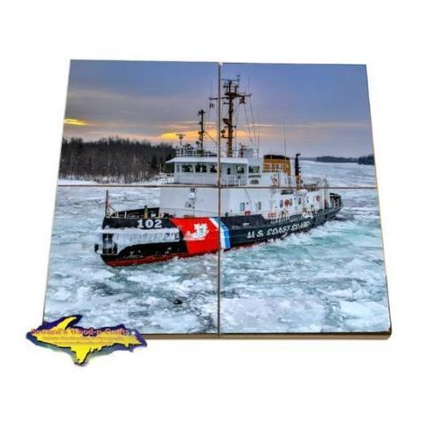 Bristol Bay Great Lakes Coast Guard Tile Photo Coaster Puzzle