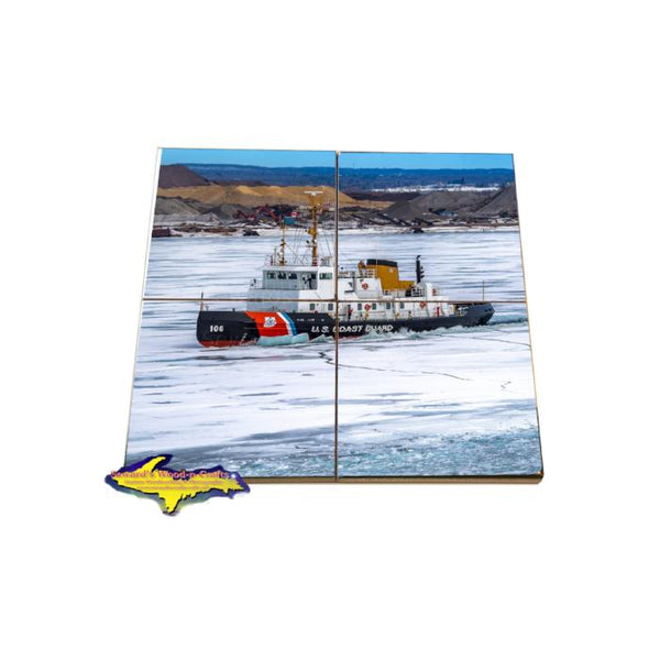 Great Lakes Coast Guard Drink Coaster Puzzle Morro Bay Gifts & Collectibles for Coast Guard family and friends