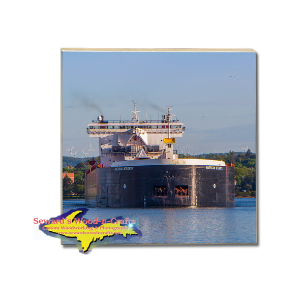 Great Lakes Freighter American Integrity Coaster American Steamship Company Marine Gifts & Collectibls