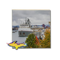 Great Lakes Freighter Cuyahoga Coaster & Trivets For Boat Fans!