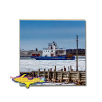 Freighter Drummond Islander IV Car Ferry Coaster & Trivets For Boat Fans & Yooper Gifts