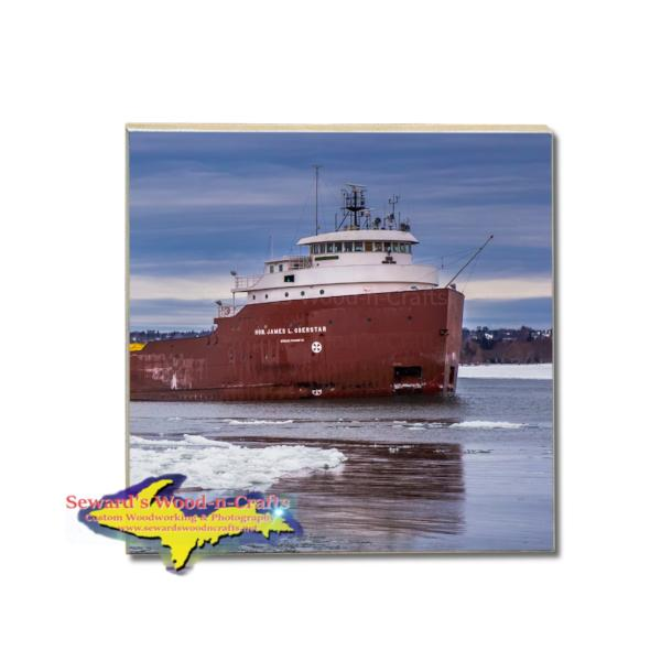 Lake Freighter James Oberstar Coaster Soo Locks Gifts And Collectibles