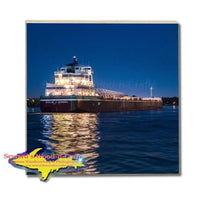 Drink Coaster Ship Joseph L Block Great Lakes Freighters Gifts & Collectibles
