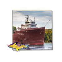 Tile Coaster Great Lakes Freighter Lee A Tregurtha Best Boat Fan Gifts
