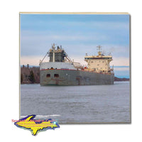 Great Lakes Freighters Drink Coasters & Trivets Manitoulin Photo Tiles Perfect gifts for boat nerds