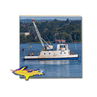 Freighter James Ojibwa Supply Boat Coaster & Trivets For Boat Fans Sault Michigan