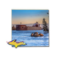 Great Lakes Freighter Paul Tregurtha Tile Drink Coasters Marine Gifts & Collectibles For Boat Fans