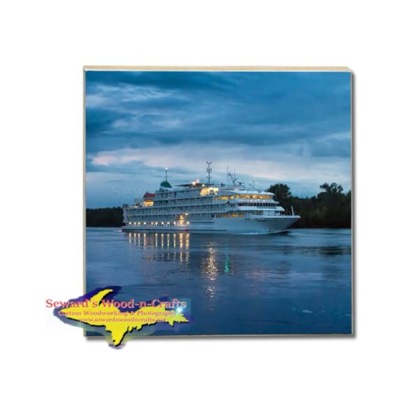 Drink Coaster Cruise Ship Pearl Mist Gifts & Collectibles