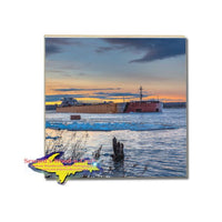 Drink Coaster Great Lake Freighter Presque Isle Great Lakes Marine Gifts & Collectibles