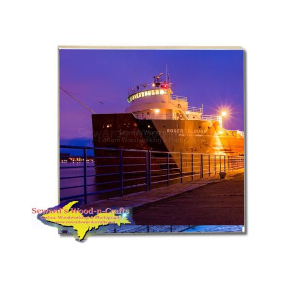 Drink Coaster Great Lake Freighter Roger Blough Nautical Gifts And Collectibles