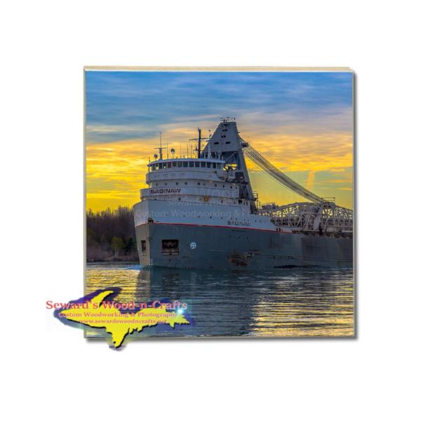 Drink Coaster Ship Saginaw Lower Lakes Towing Ltd Gifts And Collectibles