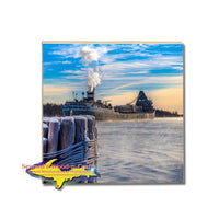 Lake Freighter Saginaw Coaster Lower Lakes Towing Ltd. Gifts and Collectibles For Boat Fans