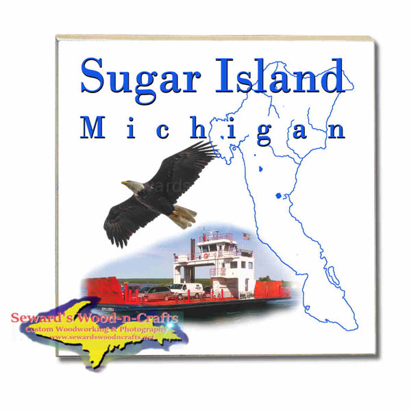 Michigan Made Coasters & Trivets  Sugar Island Michigan Upper Peninsula Photos & Gifts