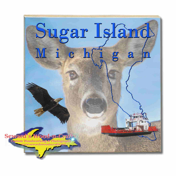 Michigan Made Coasters & Trivets  Sugar Island Michigan Deer Upper Peninsula Photos & Gifts