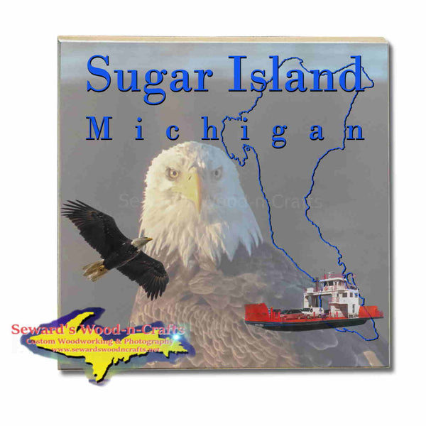 Michigan Made Coasters & Trivets  Sugar Island Michigan Bald Eagle Upper Peninsula Photos & Gifts