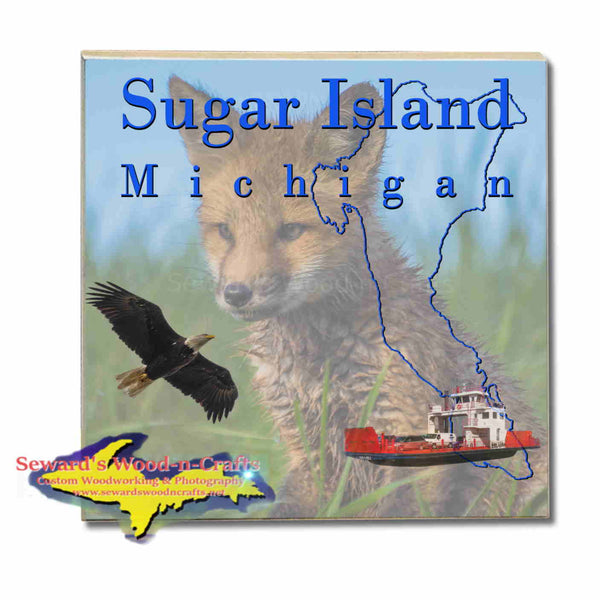 Michigan Made Coasters & Trivets  Sugar Island Michigan Fox Upper Peninsula Photos & Gifts