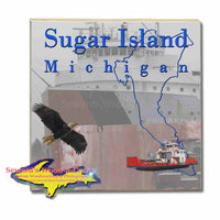 Michigan Made Coasters & Trivets  Sugar Island Michigan Freighter Philip R. Clarke Upper Peninsula Photos & Gifts