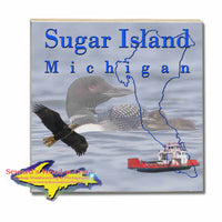 Michigan Made Coasters & Trivets  Sugar Island Michigan Loons Upper Peninsula Photos & Gifts