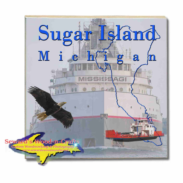Michigan Coasters, Trivets, & Slate    Sugar Island Michigan Mississagi Freighter Upper Peninsula Photos & Gifts