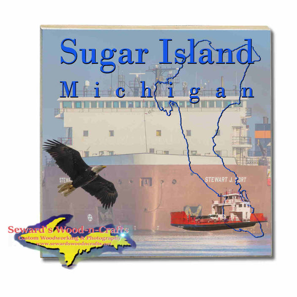 Michigan Made Coasters &Trivets    Sugar Island Michigan Stewart Cort Upper Peninsula Photos & Gifts