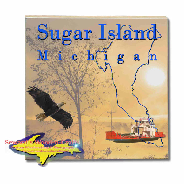 Michigan Made Coasters & Trivets  Sugar Island Michigan Sunrise Upper Peninsula Photos & Gifts