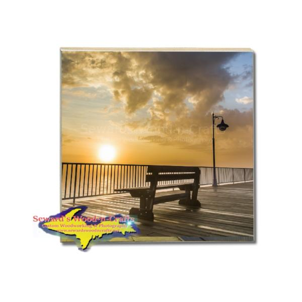 Michigan Coasters Sunrise George Kemp Marina Sunrise Ste. Marie Michigan Gifts