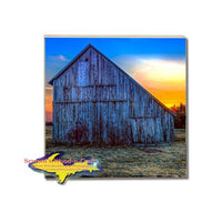 Michigan Made Drink Coasters Sunset Barn Rudyard Michigan Gifts And Collectibles