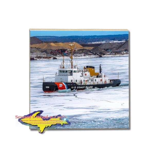 Great Lakes Freighter Drink Coasters USCG Morro Bay. Gifts & Collectibles for United States Coast Guard