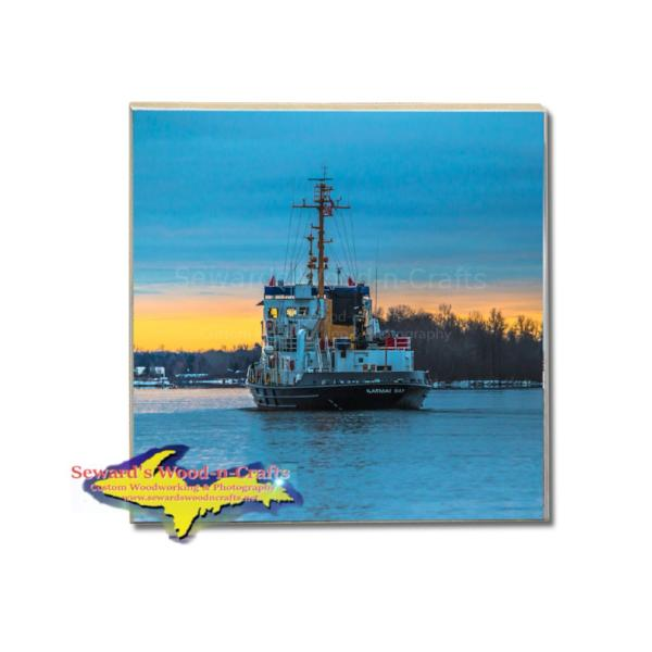 Great Lakes Coast Guard Drink Coasters Katmai Bay Sault Ste. Marie Gifts & Collectibles