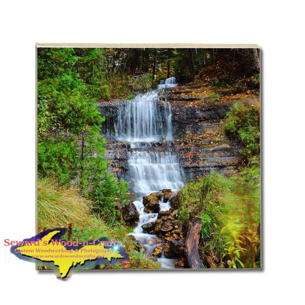 Drink Coasters  Alger Waterfalls Pictured Rocks Michigan Made Gifts & Collectibles
