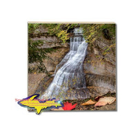 Drink Coaster Chapel Falls Michigan's Upper Peninsula Pictured Rocks Gifts & Collectibles