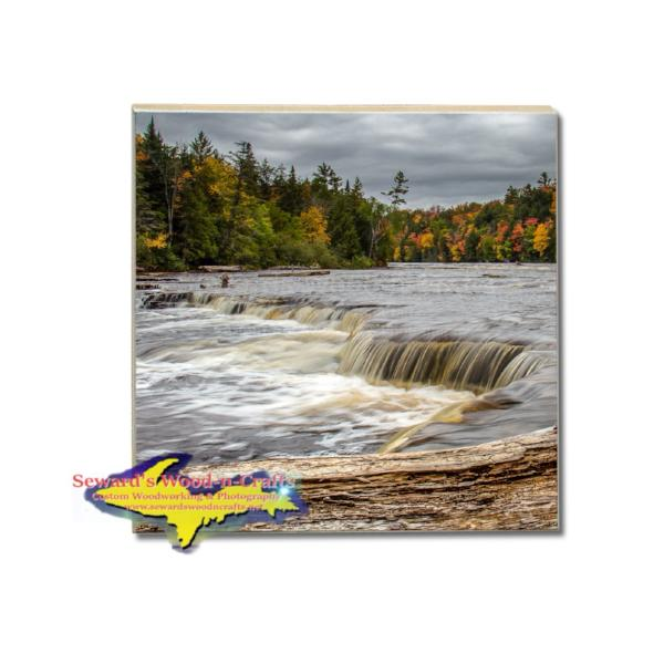 Michigan Made Drink Coaster Lower Tahquamenon Yooper Gifts And Collectibles