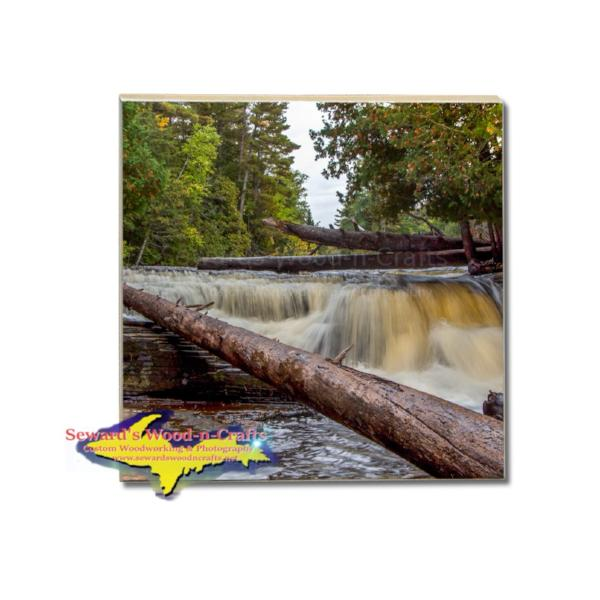 Michigan Made Drink Coaster Lower Tahquamenon Waterfalls Best Season Gifts For All Occasions