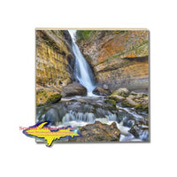 Drink Coaster Miners Waterfalls Michigan's Upper Peninsula Gift Store