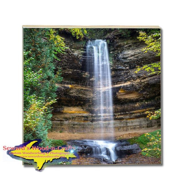 Made In Michigan Drink Coasters Munising Waterfalls Pictured Rocks Gifts & Collectibles