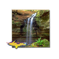 Drink Coaster Tannery Waterfalls Pictured Rocks Michigan Made Online Gift Store