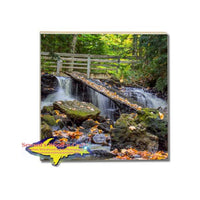 Drink Coaster Chapel Waterfalls Pictured Rocks Michigan Made Online Gifts Shop