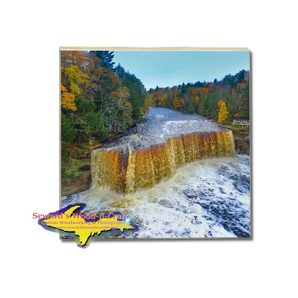 Drink Coaster Upper Tahquamemon Waterfalls Collectibles & Gifts Michigan Made Online Store