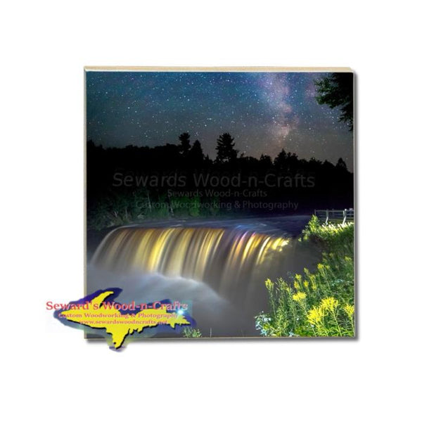 Michigan Made Drink Coaster Upper Tahquamemon Waterfalls Gifts & Collectibles