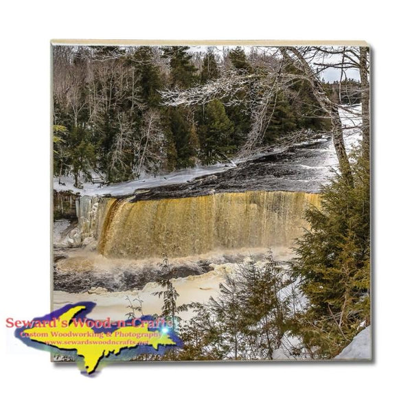 Michigan Made Drink Coaster Upper Tahquamemon Waterfalls Upper Peninsula Gifts