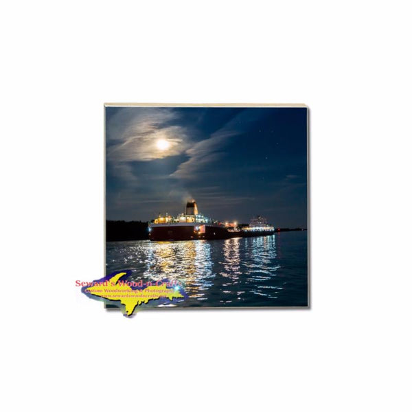 Great Lake Freighter Roger Blough Photo Coasters For Boat Fans on the Great Lakes