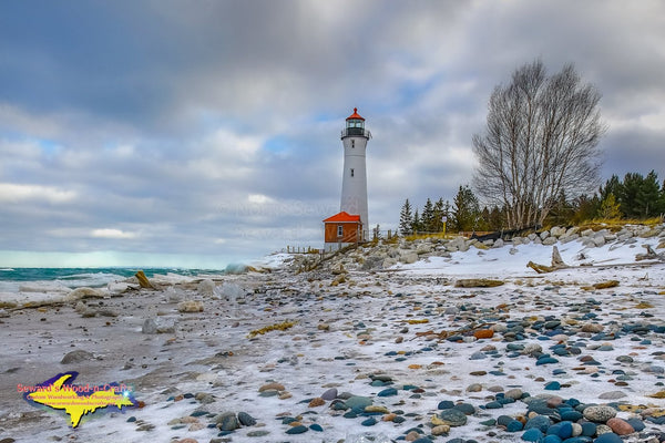 Michigan Landscape Photography Crisp Point Lighthouse Winter Shoreline
