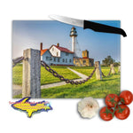 Michigan Made Glass Cutting Boards Whitefish Point Lighthouse Yooper Gifts