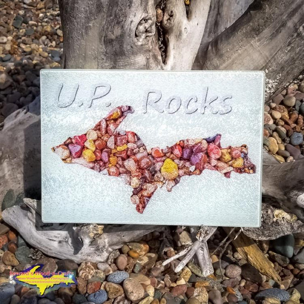 Cutting Board Michigan's Upper Peninsula Rocks Michigan Made Gifts and Kitchenware