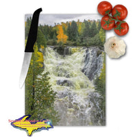 Michigan Made Glass Cutting Boards Eagle River Waterfalls Keweenaw Peninsula Michigan
