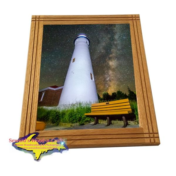 Crisp Point Lighthouse Framed Photo Michigan's Upper Peninsula Photography Yooper Gifts