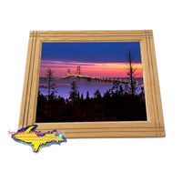 Mackinac Bridge Framed Photo Buy Michigan Made Gifts