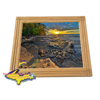 Framed Photos Pictured Rocks Hurricane River Sunset -2410