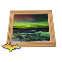 Michigan landscape Photography Northern Lights Pendells Creek Framed Photo Image