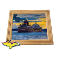 Lake Freighter James Oberstar Interlake Steam Company Framed Picture Home/Office Decor